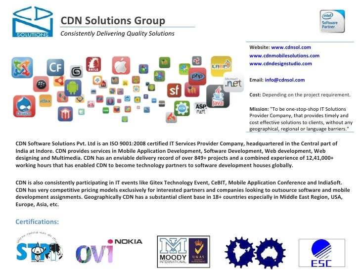 CDN Solutions Group                  Consistently Delivering Quality Solutions                                            ...