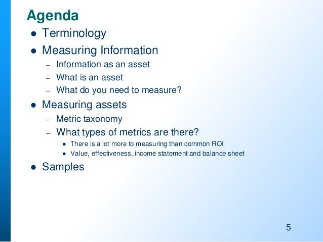 The Chief Data Officer Agenda: Metrics for Information and Data Manag…
