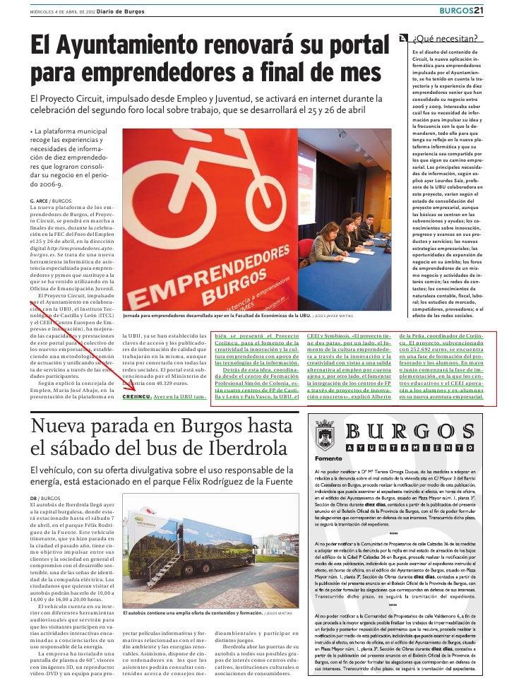 MIÉRCOLES 4 DE ABRIL DE 2012 Diario     de Burgos                                                                         ...