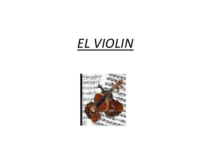 EL VIOLIN<br />