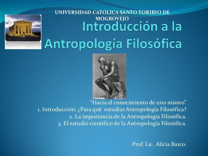 LA ANTROPOLOGIA FILOSOFICA PDF
