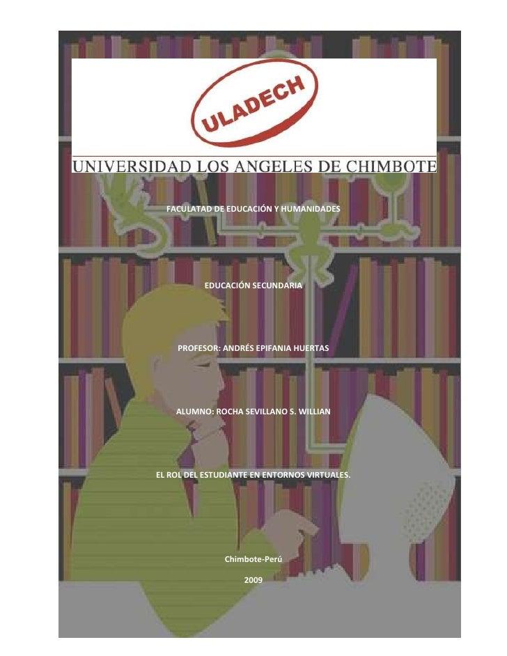 FACULATAD DE EDUCACIÓN Y HUMANIDADES               EDUCACIÓN SECUNDARIA         PROFESOR: ANDRÉS EPIFANIA HUERTAS         ...