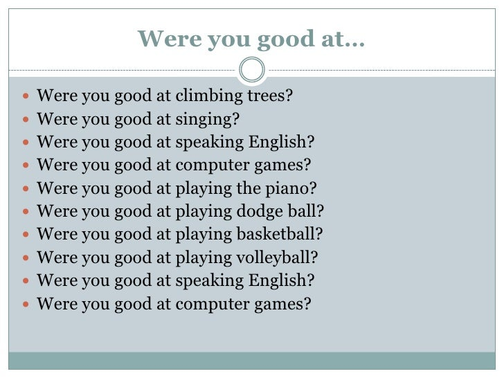 Good questions for conversation