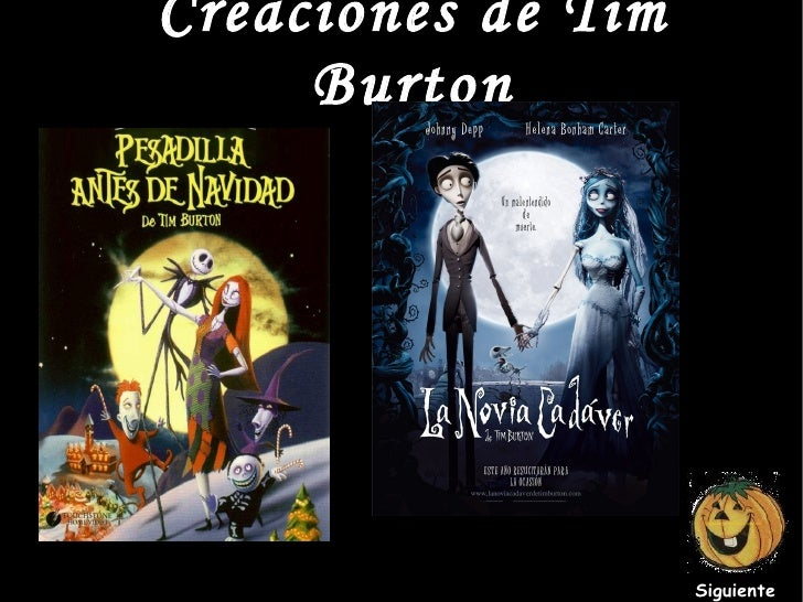 Creaciones  de Tim Burton Siguiente