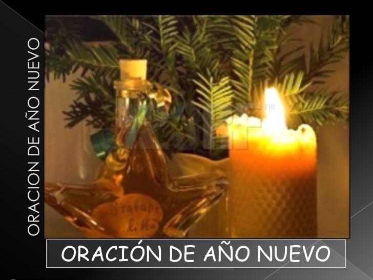 ORACION DE AÑO NUEVO<br />ORACIÓN DE AÑO NUEVO<br />