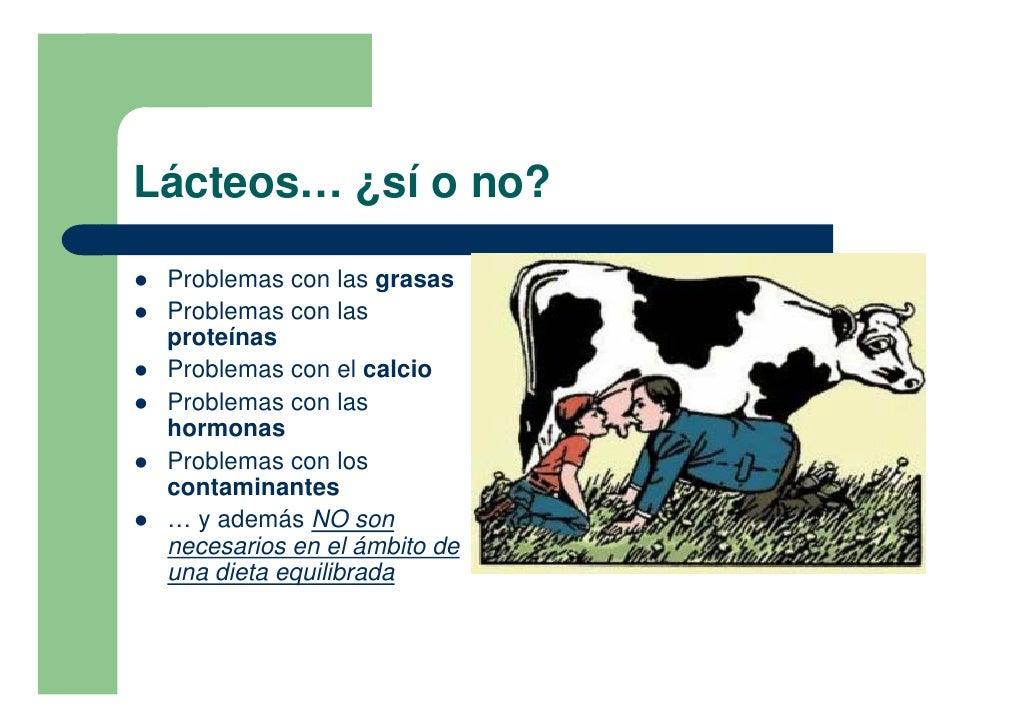 Lácteos… ¿sí o no?  !   Problemas con las grasas !   Problemas con las     proteínas !   Problemas con el calcio !   Probl...