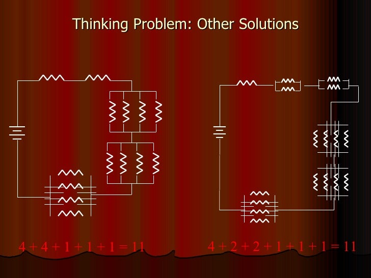 Thinking Problem: Other Solutions 4 + 4 + 1 + 1 + 1 = 11  4 + 2 + 2 + 1 + 1 + 1 = 11