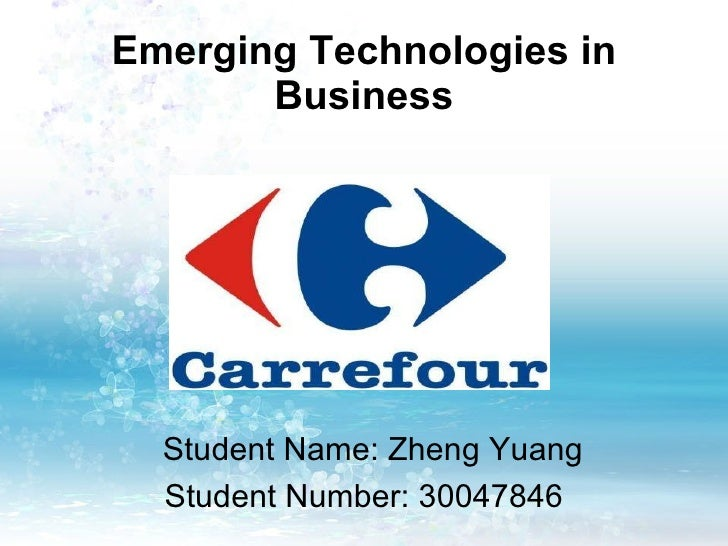 Emerging Technologies in Business Student Name: Zheng Yuang Student Number: 30047846