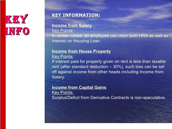 Loss On Housing Property Income Tax India