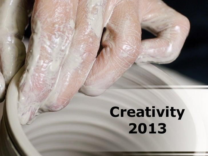 Creativity  2013