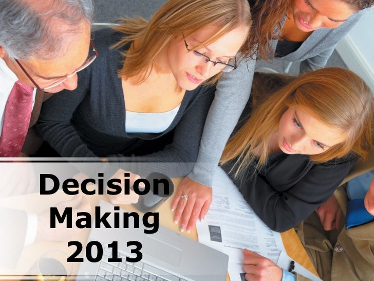 DecisionMaking 2013