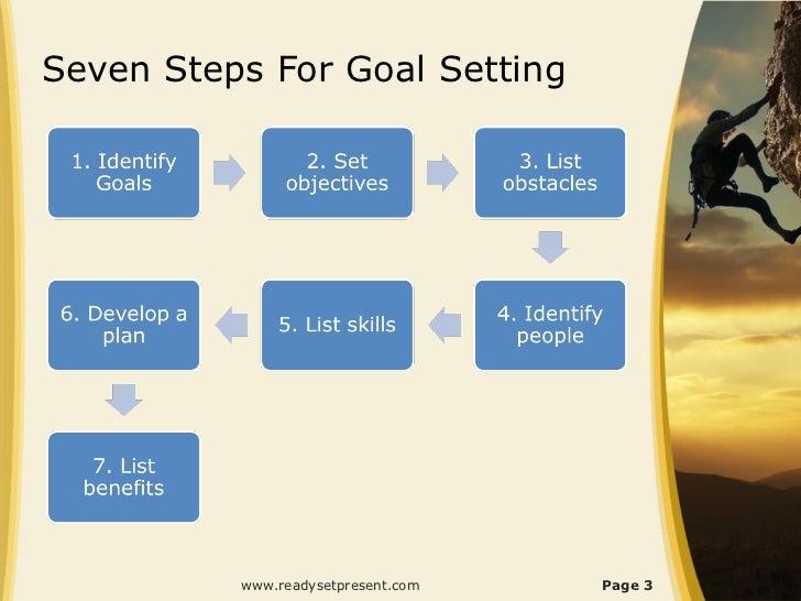 Goal Setting PowerPoint PPT Content Modern Sample