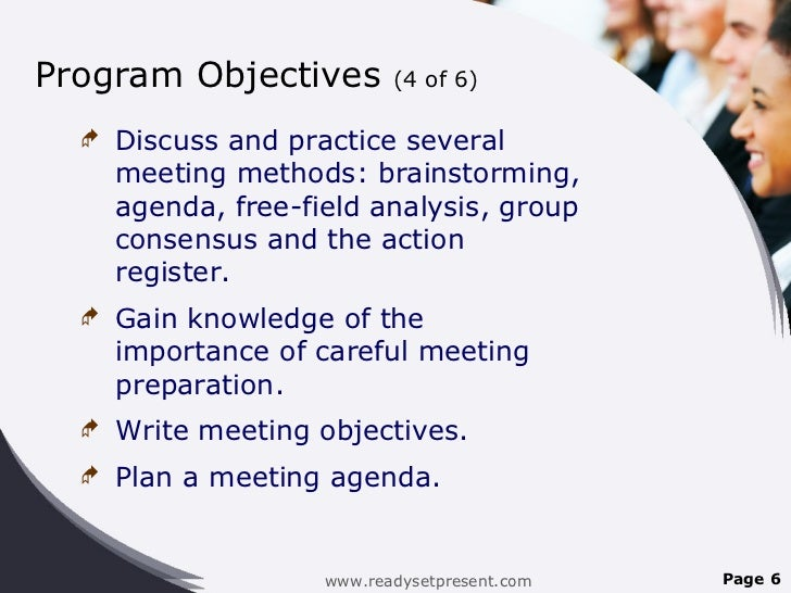 Meetings PowerPoint PPT Content Modern Sample – Meeting Program Sample