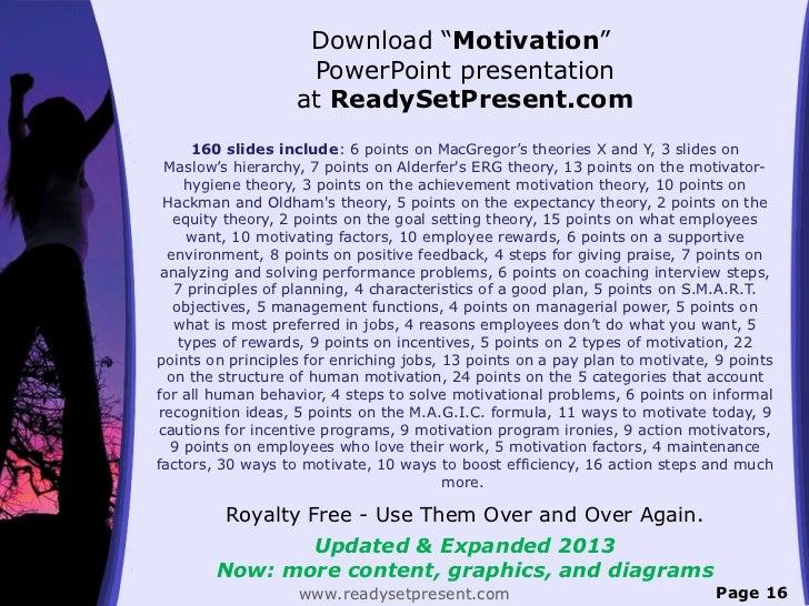 "Download ""Motivation""                    PowerPoint presentation                   at ReadySetPresent.com      160 slides ..."