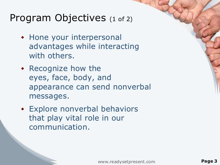 three important contents in nonverbal communication Discover how to utilize nonverbal communication in sales  6 nonverbal communication examples to increase sales sales success what is nonverbal communication it refers to the use of communication without using spoken language nonverbal communication often referred to as body language is very important in.