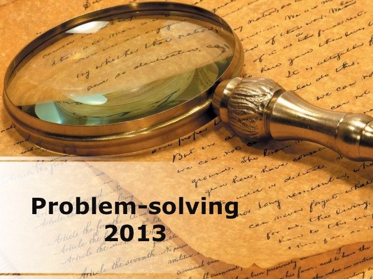 Problem-solving     2013