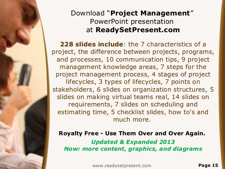 project management powerpoint ppt content modern sample