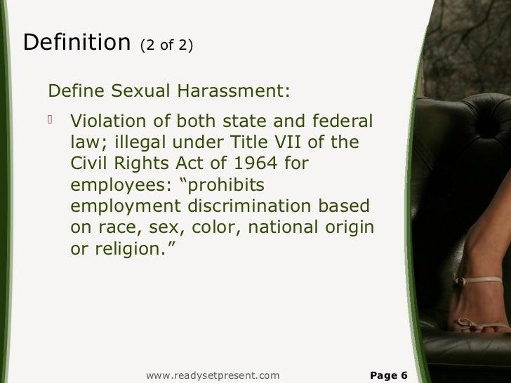 Define sexual harassment