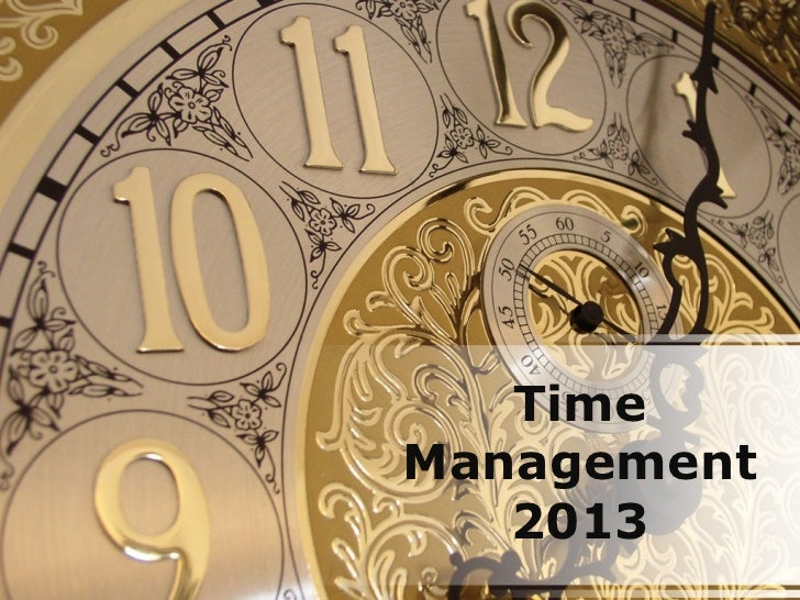 TimeManagement   2013