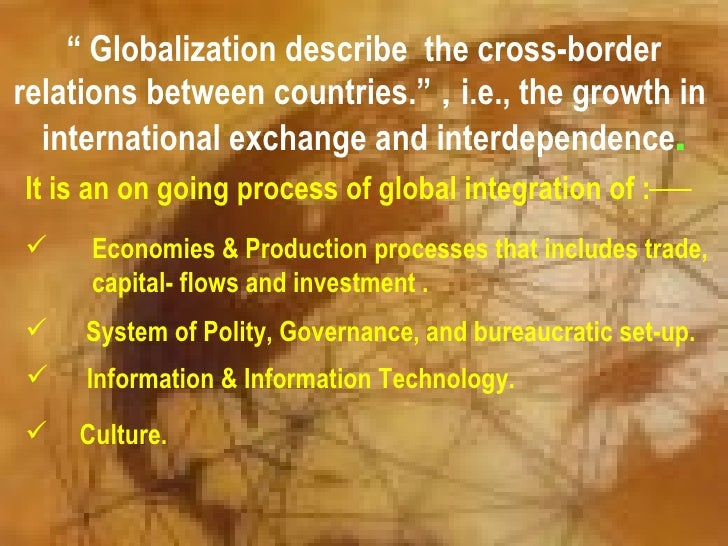 Economic Relations Between Europe and the World: Dependence and Interdependence
