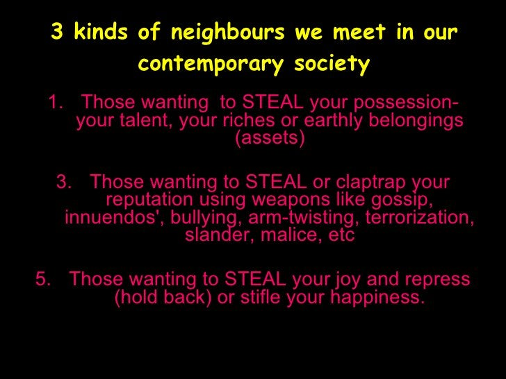 3 kinds of neighbours we meet in our contemporary society   www.christiandrive.wordpress.com