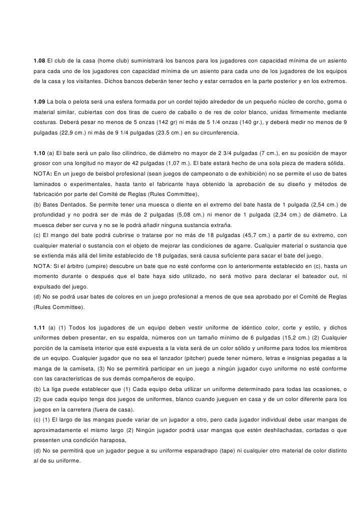 REGLAMENTO DE BEISBOL Slide 3
