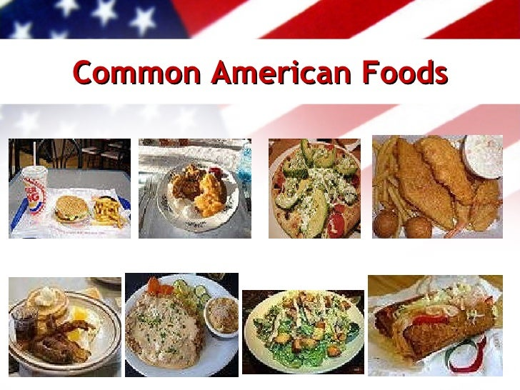 United states of america ppt for American cuisine foods