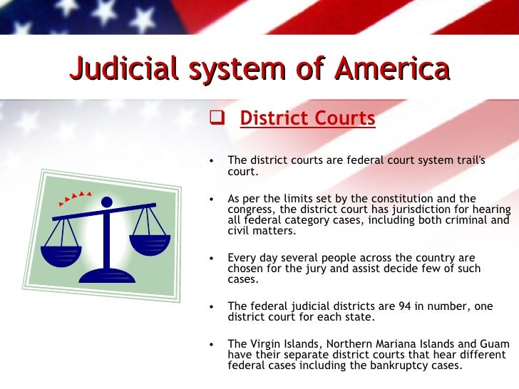 5 issues in america court system The criminal justice system is the set of agencies and processes established by governments to control crime and impose  give testimony during the court.
