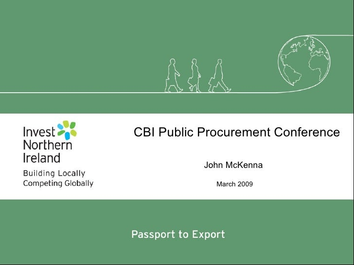 CBI Public Procurement Conference March 2009 John McKenna