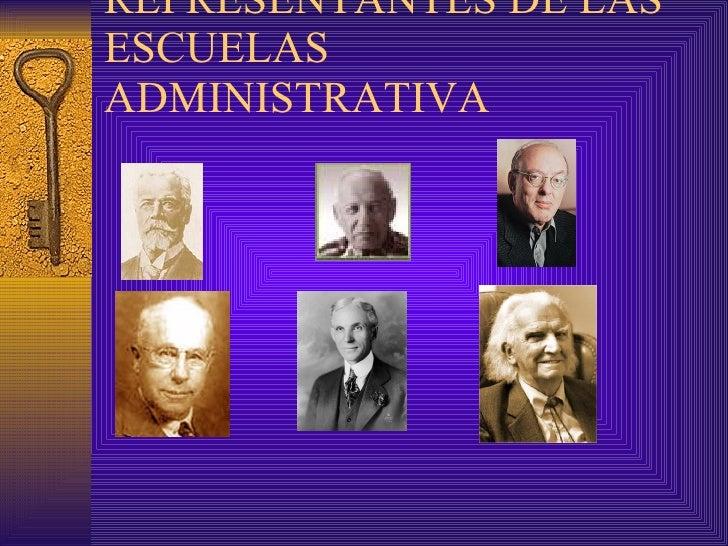 REPRESENTANTES DE LAS ESCUELAS ADMINISTRATIVA