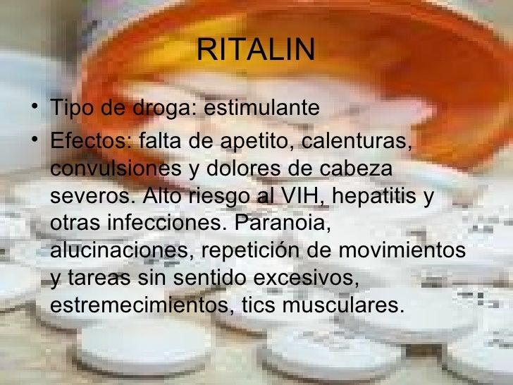 tipos de drogas y efectos Slide 2