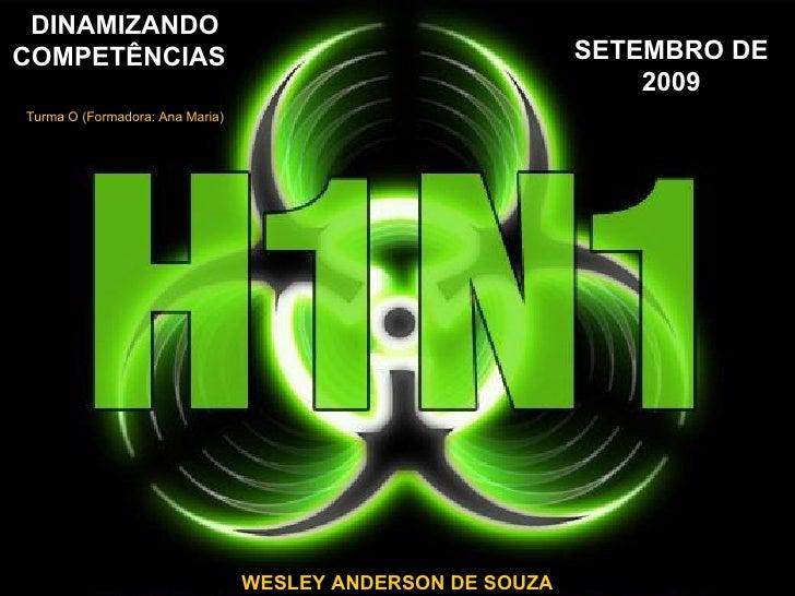 SETEMBRO DE 2009 DINAMIZANDO COMPETÊNCIAS   Turma O (Formadora: Ana Maria) WESLEY ANDERSON DE SOUZA
