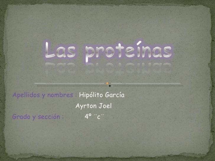 Apellidos y nombres :  Hipólito García Ayrton Joel  Grado y sección :   4º ¨c¨