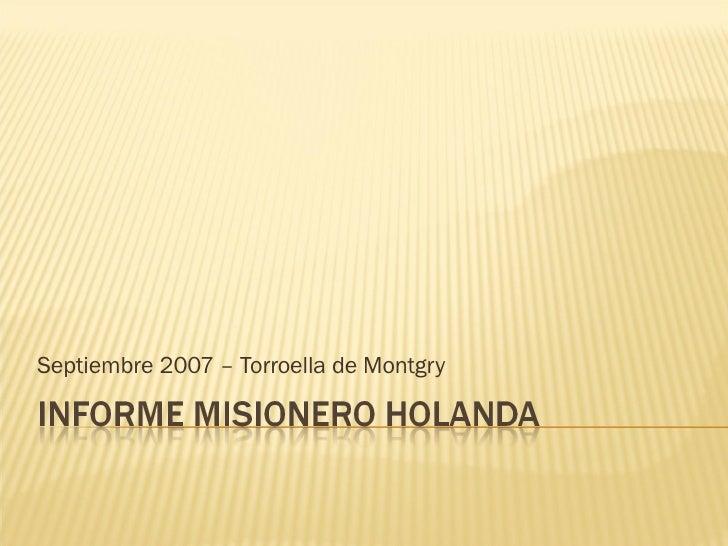 Septiembre 2007 – Torroella de Montgry