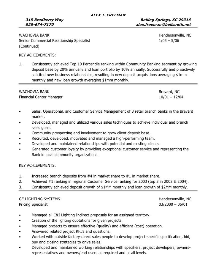 customers 3 - Operations Manager Sample Resume