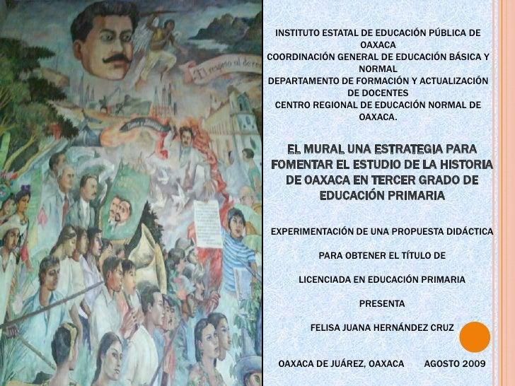 INSTITUTO ESTATAL DE EDUCACIÓN PÚBLICA DE OAXACA<br />COORDINACIÓN GENERAL DE EDUCACIÓN BÁSICA Y NORMAL<br />DEPARTAMENTO ...