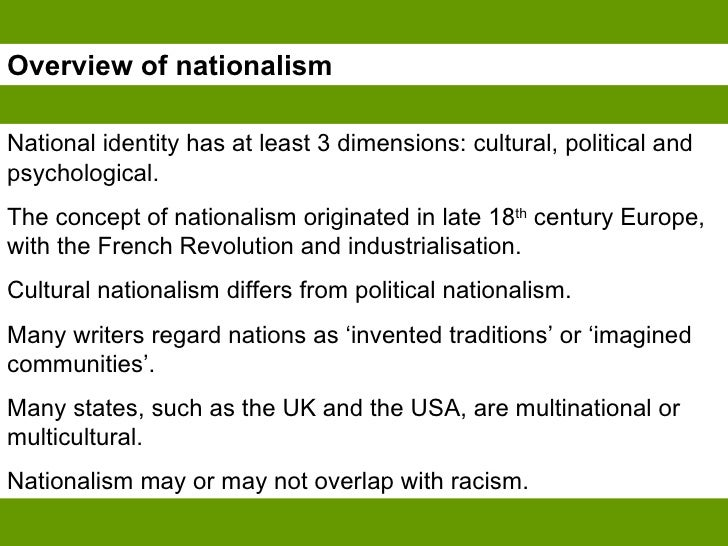 Nationalism: Overview