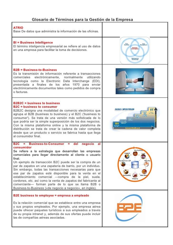 Glosario de Términos para la Gestión de la Empresa ATRIO Base De datos que administra la información de las oficinas.   BI...