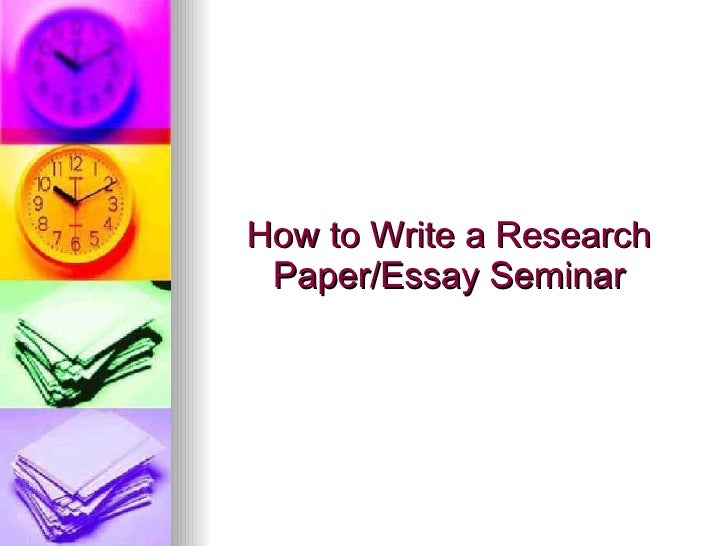 How to write a seminar paper