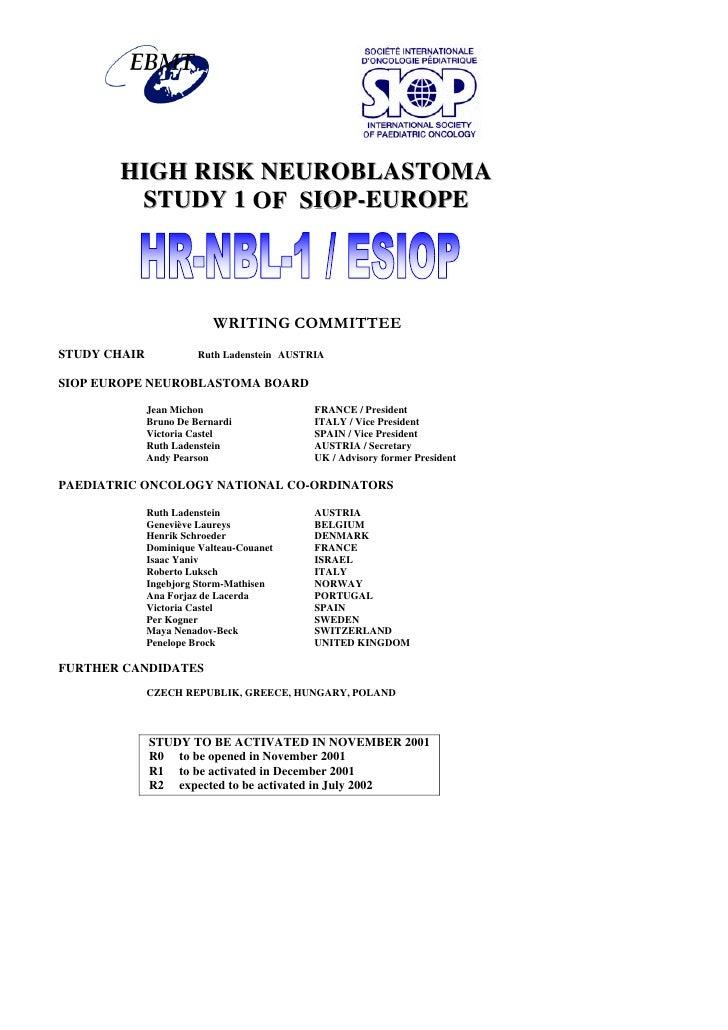 C:\Documents And Settings\Chambre 205\Bureau\Nevroblastomprotokoll