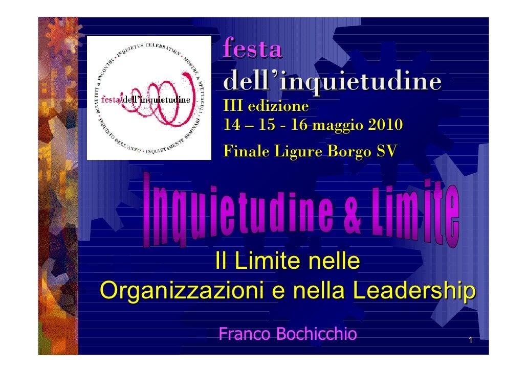 festa           dell'inquietudine           III edizione           14 – 15 - 16 maggio 2010           Finale Ligure Borgo ...