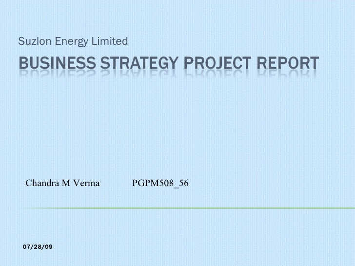 Suzlon Energy Limited Chandra M Verma  PGPM508_56 07/28/09