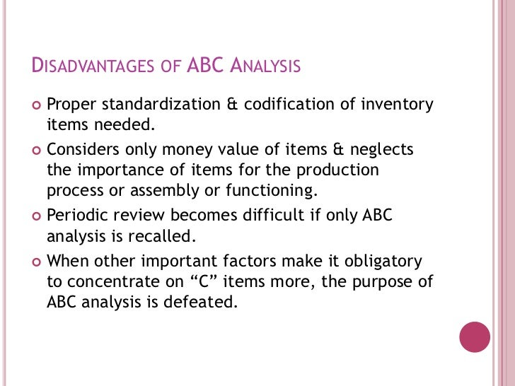 disadvantages of abc costing