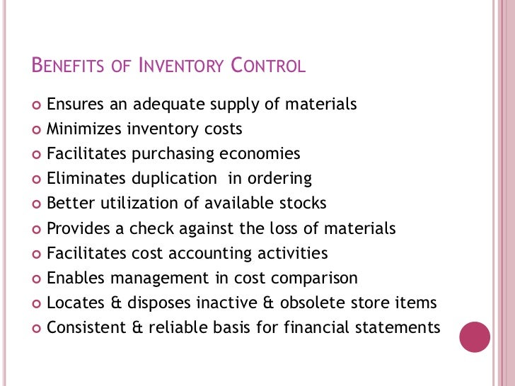 the importance of inventory control Inventory management is a very important function that determines the health of the supply chain as well as  control and review inventory and interface with.
