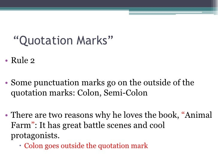 Punctuation - Quotation Marks
