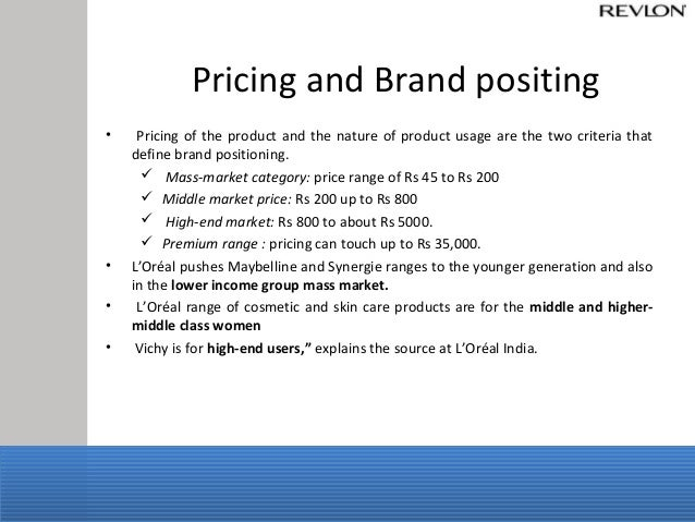 L oreal brand positioning