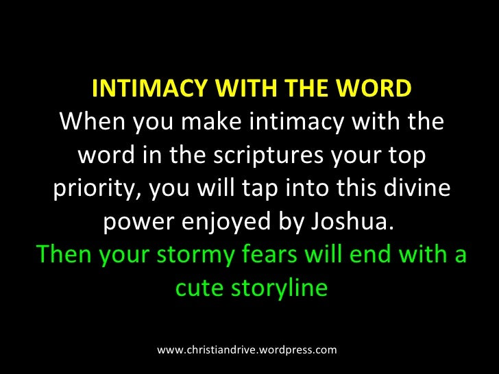 INTIMACY WITH THE WORD When you make intimacy with the word in the scriptures your top priority, you will tap into this di...