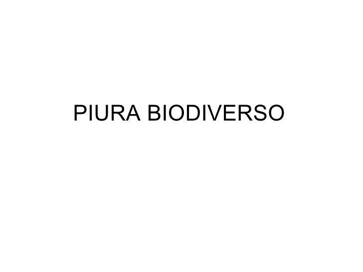PIURA BIODIVERSO