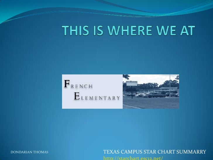 DONDARIAN THOMAS   TEXAS CAMPUS STAR CHART SUMMARRY