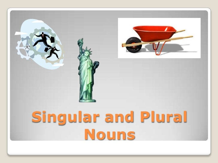 Singular and Plural Nouns<br />